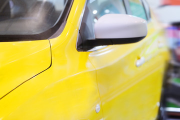 The image of a taxi yellow cab
