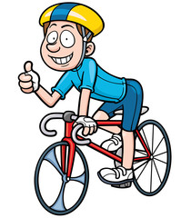 Vector illustration of Cartoon Cyclist