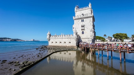 Belem Tower, masterpiece of the Manueline Architecture in Lisbon