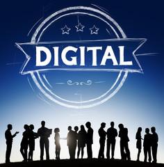 Digital Technology Internet Online Communication Concept