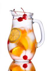 Jug of orange cocktail