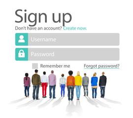 Sign Up Register Online Internet Web Concept