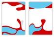 Wavy shapes vector flyer design