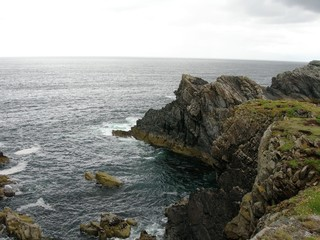 Scotland steep cliffs
