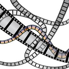 Film strip 3D vector
