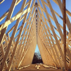 New timber roof truss construction