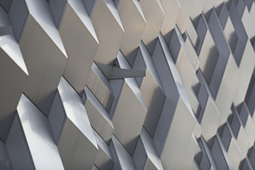 Metal modern 3d dimension triangle sharp wall