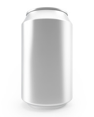 aluminum cans isolated on white background, alcohol and