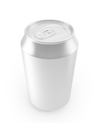 aluminum cans on a white background.