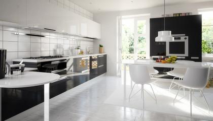 Cute designed kitchen