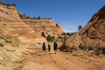 Hiking the Sandstone Cfiffs of Grand Staircase Escalante Utah