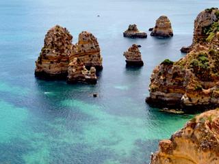Cenário junto ao mar no Algarve