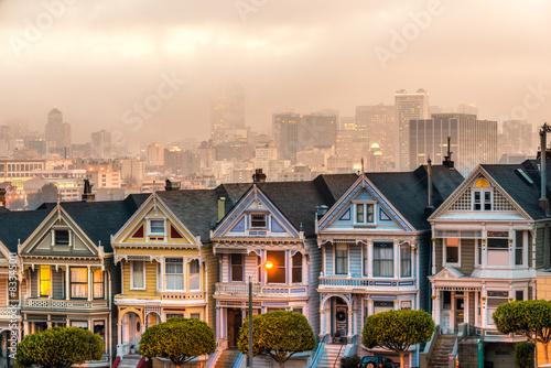 Painted ladies of San Francisco, California, USA.