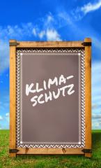 Strassenschild 34 - Klimaschutz
