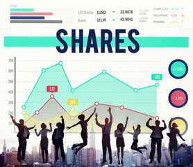 Shares Shareholder Proportion Network Wireless Concept