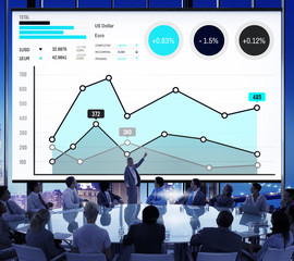 Finance Growth Business Marketing Success Analysis Concept