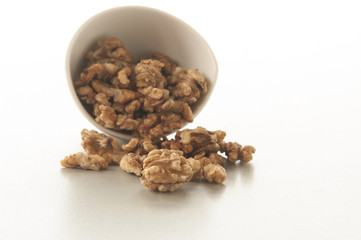 Walnuts isolated on white background. close up