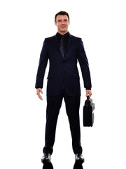 business man standing smiling silhouette