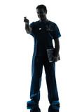 doctor man silhouette standing full length gesturing money
