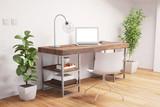 Fototapety Home Office mit Laptop und Schreibtisch