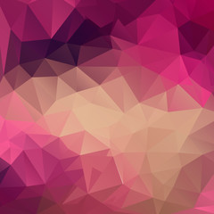 Polygon abstract texture in pink colors background for web desig