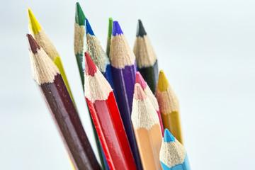 Multicolored crayons