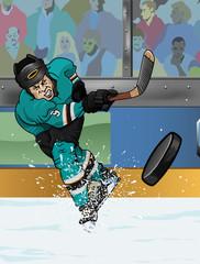 San Josè ice hockey player.