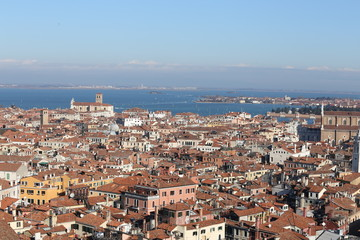 roofs of houses and buildings in the VENICE City