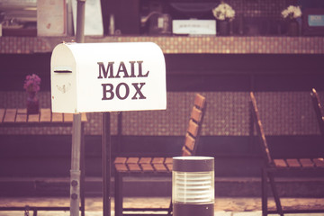 Mailboxes with filter effect retro vintage style