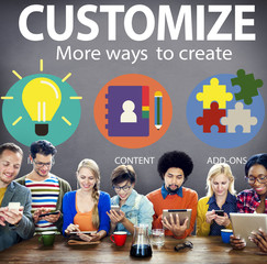 Customize Ideas Identity Individuality Innovation Personalize Co