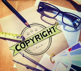 Copyright Trademark Brand Branding Marketing Concept