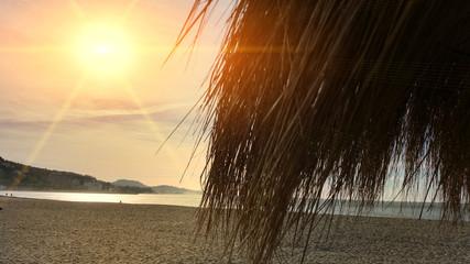 Sunshade on beach
