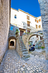 Historic stone streets of UNESCOT town of Trogir