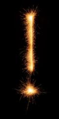 """!"" symbol drawn with bengali sparkles"