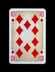 Spielkarten - Gothia - Karo Zehn aus der Ritterzeit