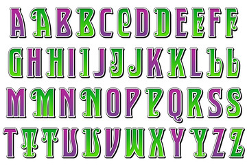 carnival jester alphabet collection