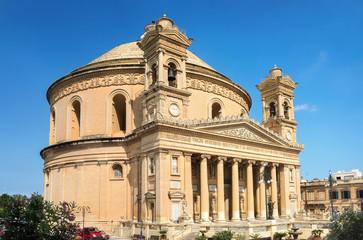 Famous church of St. Marija Assunta in Mosta or Rotunda of Mosta