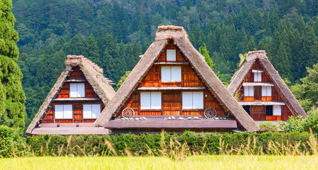 Shirakawa-go village, located in Gifu Prefecture, Japan.