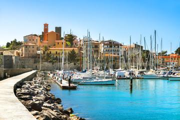Waterfront of small town of Talamone. Grosseto region, Tuscany,