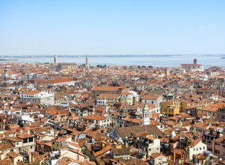 Aerial views of Venice. Venice, Italy