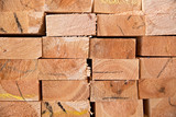 Wooden timber at a sawmill - 83360222