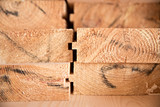 Wooden timber at a sawmill - 83360242