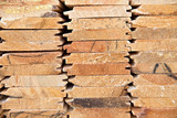 Wooden timber at a sawmill - 83360266