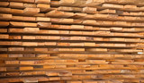 Wooden timber at a sawmill - 83360289