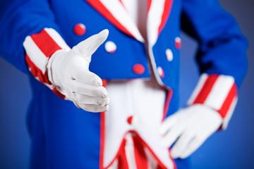 Patriotic: Uncle Sam Handshake