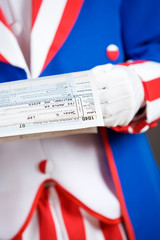 Patriotic: Holding A Tax Form