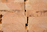 Wooden timber at a sawmill - 83360424