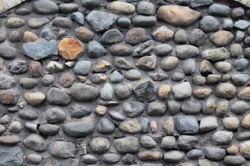 Colorful rock wall in Cuenca, Ecuador