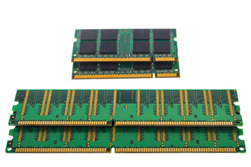 Green RAM DDR microchip for pc and notebook