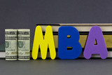 MBA degree is an education investment poster